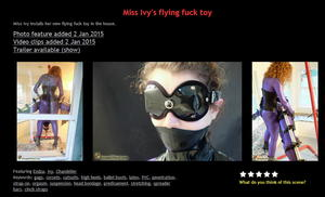House of Gord: Miss Ivy's flying fuck toy