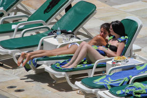 th 800389550 Celebutopia netSelenaGomez 122 389lo Selena Gomez gets a Brazilian tan while at a pool at her hotel in Rio 2 4 12 x36