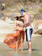 Jenna Dewan-Tatum - wearing a bikini on a beach in St. Barts 12/29/12