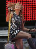 Paulina Rubio upskirt on stage during The Concert For The Children in Argentina
